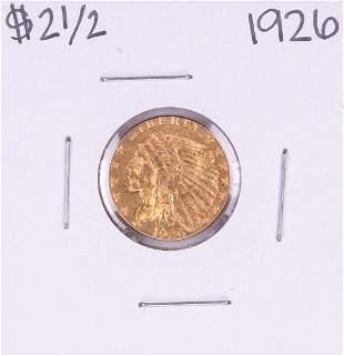 1926 $2 1/2 Indian Head Quarter Eagle Gold Coin