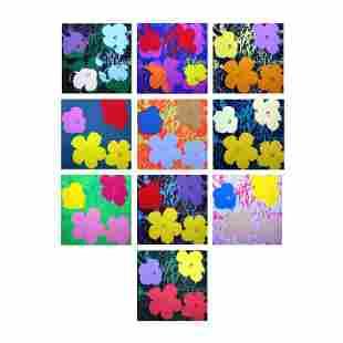 "Andy Warhol ""Flowers Portfolio"" Print Serigraph on"