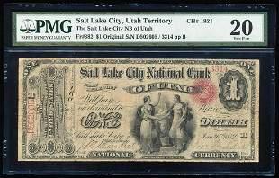 Original Series $1 Salt Lake City, Utah Territory CH#