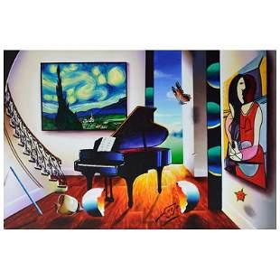 "Ferjo ""Swirling Stars With"" Original Oil on Canvas"