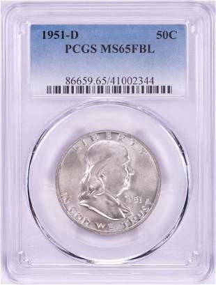 1951-D Franklin Half Dollar Coin PCGS MS65FBL