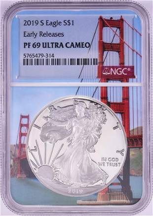 2019-S $1 Proof American Silver Eagle Coin NGC PF69