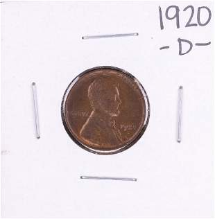 1920-D Lincoln Wheat Cent Coin