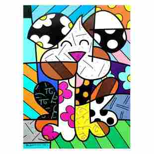"""Romero Britto """"Andy"""" Limited Edition Giclee"""