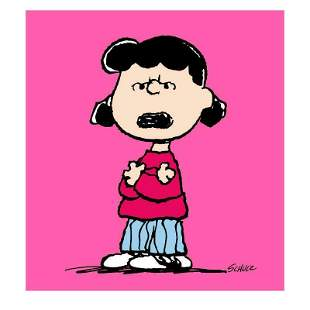 """Peanuts """"Lucy: Pink"""" Limited Edition Canvas"""