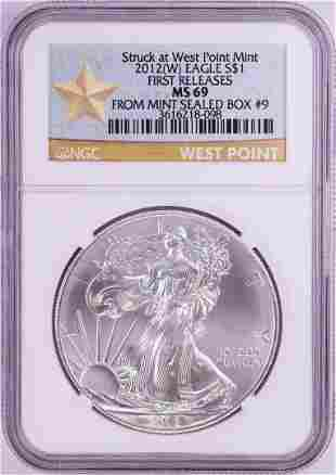 2012(W) $1 American Silver Eagle Coin NGC MS69 First
