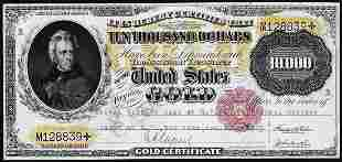 1900 $10,000 Gold Certificate Note