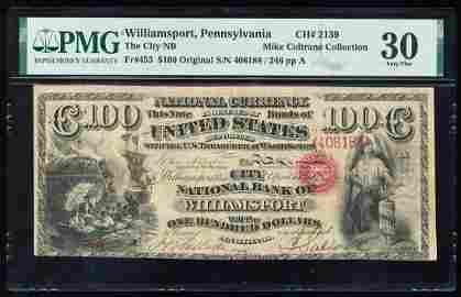 Original Series $100 NB of Williamsport, PA CH# 2139