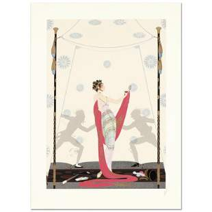 """Erte (1892-1990) """"The Duel"""" Limited Edition Serigraph"""