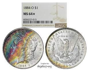 1884-O $1 Morgan Silver Dollar Coin NGC MS64* Star