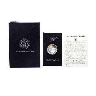1880-CC $1 Morgan Silver Dollar Coin GSA Hoard w/Box