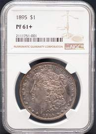 1895 $1 Proof Morgan Silver Dollar Coin NGC PF61+