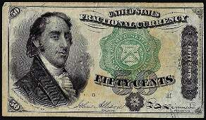 March 3, 1863 Fifty Cents Fourth Issue Fractional