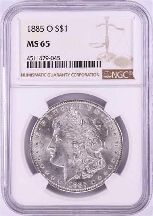885-O $1 Morgan Silver Dollar Coin NGC MS65