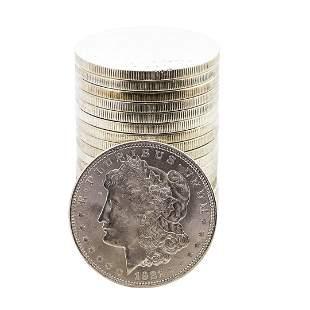 Roll of (20) Brilliant Uncirculated 1921 $1 Morgan