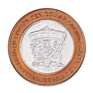 .999 Fine Silver Treasure Island Las Vegas, Nevada $10