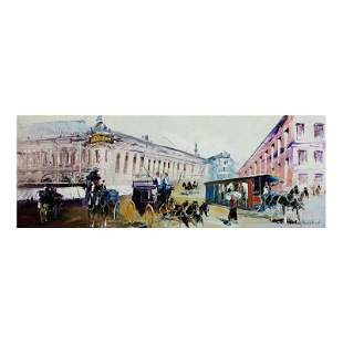 "Shalva Phachoshvili ""Street View"" Original Oil on"