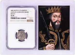 1035-87 William The Conqueror Normandy Rouen Denier