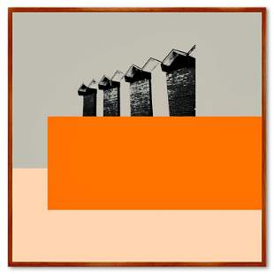 """Claudio Santini """"Ciytyscape 2"""" Limited Edition Mixed"""