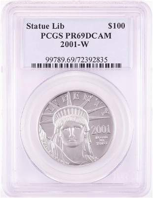 2001-W $100 Proof American Platinum Eagle Coin PCGS