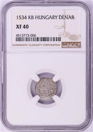1534 KB Hungary Denar 'Madonna and Child' Coin NGC XF40