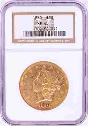 850 $20 Liberty Head Double Eagle Gold Coin NGC XF45