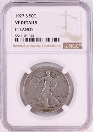 1927-S Walking Liberty Half Dollar Coin NGC VF Details