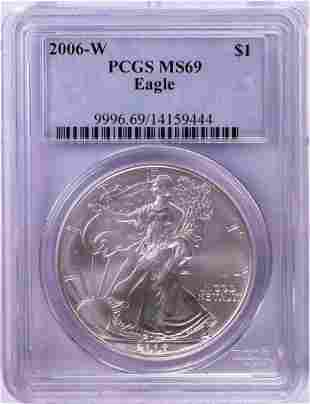 2006-W $1 American Silver Eagle Coin PCGS MS69