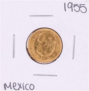 1955 Mexico Cinco Pesos Gold Coin