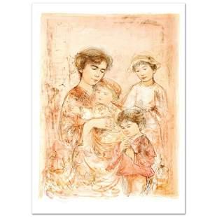 """Edna Hibel (1917-2014) """"Lotte and Her Children"""" Limited"""