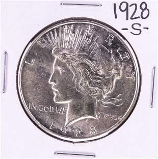 928-S $1 Peace Silver Dollar Coin