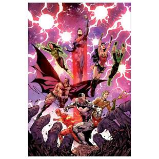 """DC Comics """"Justice League #3"""" Limited Edition Giclee on"""