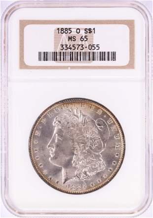 1885-O $1 Morgan Silver Dollar Coin NGC MS65 Nice