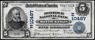 1902DB $5 Montour NB of Montour Falls, New York CH#