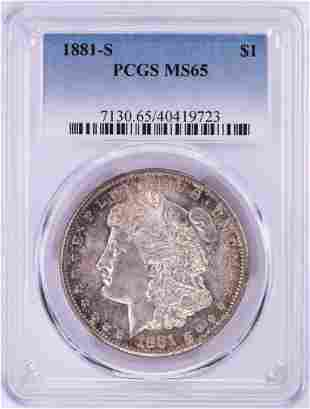 1881-S $1 Morgan Silver Dollar Coin PCGS MS65