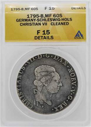 1795-B Germany Christian VII 60 Schilling Coin ANACS