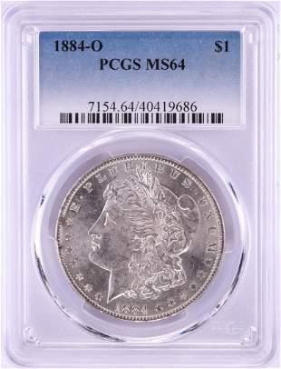 1884-O $1 Morgan Silver Dollar Coin PCGS MS64 Nice