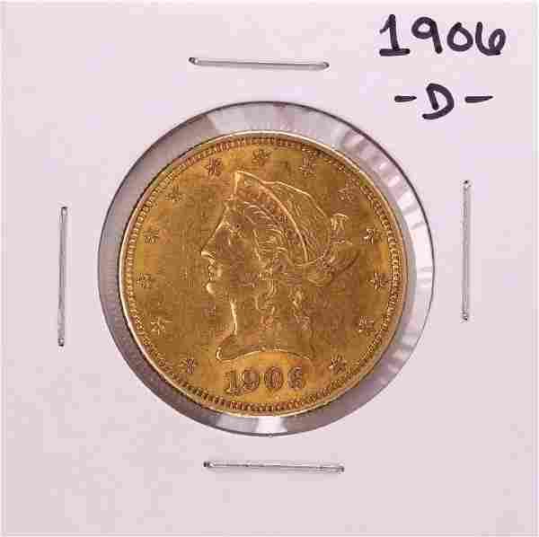 1906-D $10 Liberty Head Eagle Gold Coin