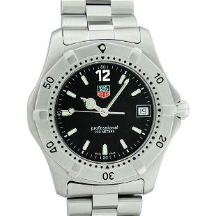Tag Heuer Unisex Stainless Steel Black Dial 37mm