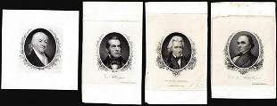 Lot of (4) 1800's Vignette from Original Proof Plates