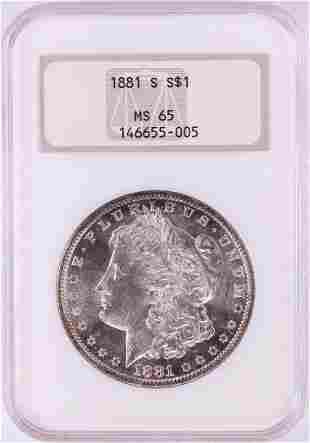 1881-S $1 Morgan Silver Dollar Coin NGC MS65 Old Fatty