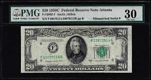 1950C $20 Federal Reserve Note Mismatched Serial Number