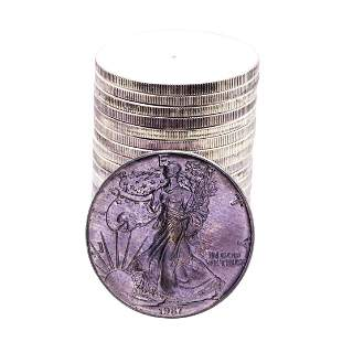 Roll of (20) Brilliant Uncirculated 1987 $1 American