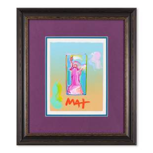 "Peter Max ""Statue of Liberty"" Original Mixed Media on"