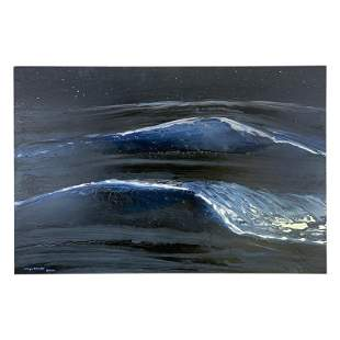 """Wyland """"Surf Eleven"""" Original Acrylic on Board"""