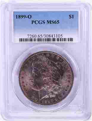1899-O $1 Morgan Silver Dollar Coin PCGS MS65 Nice