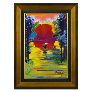 "Peter Max ""Better World"" Original Mixed Media on Paper"