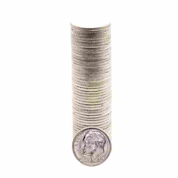 Roll of (50) Brilliant Uncirculated 1963 Roosevelt