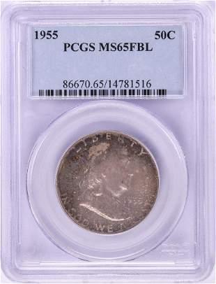 1955 Franklin Half Dollar Coin PCGS MS65FBL