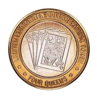 .999 Silver Four Queens Casino Hotel Las Vegas $10